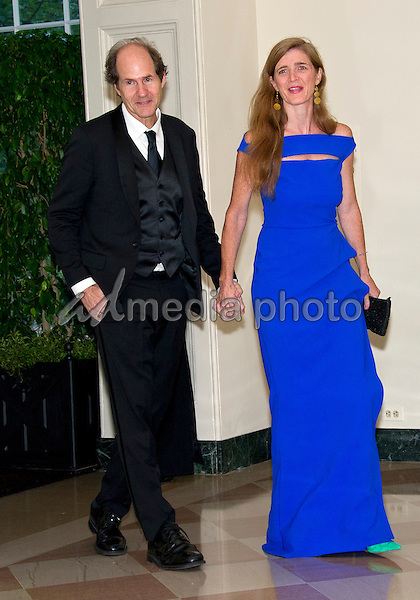 Samantha Power, United States Ambassador to the United Nations and Cass Sunstein arrive for the State Dinner honoring Prime Minister Lee Hsien Loong of the Republic of Singapore at the White House in Washington, DC on Tuesday, August 2, 2016. Photo Credit: Ron Sachs/CNP/AdMedia