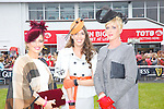Best Dressed lady finalists Grainne Greville, Tyrone, Elaine Moriarty, Killarney, and Mary Houlihan,  at the Listowel Races on Friday