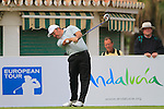 Damien McGrane (IRL) in action on the 10th tee during Day 2 Friday of the Open de Andalucia de Golf at Parador Golf Club Malaga 25th March 2011. (Photo Eoin Clarke/Golffile 2011)