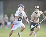 Ole MIss' Joe Loden (19) vs. Georgia Tech's Ryan Foarde (37) in lacrosse at the Ole Miss Intramural Fields in Oxford, Miss. on Saturday, February 2, 2013. Georgia Tech won 8-5.