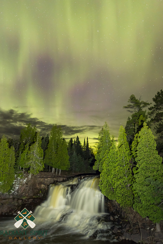 &quot;Aurora over Gooseberry Falls&quot;<br />