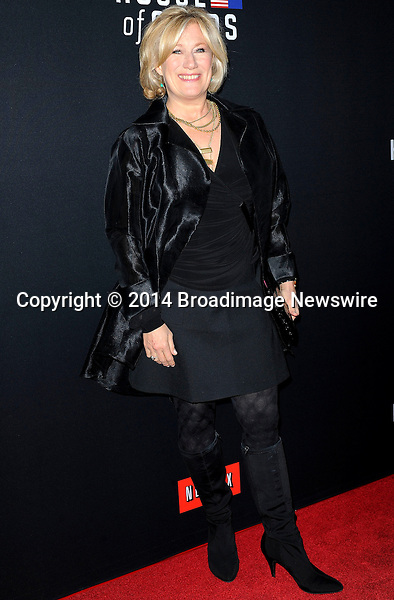 Pictured: Jayne Atkinson<br /> Mandatory Credit &copy; Adhemar Sburlati/Broadimage<br /> Film Premiere of House of Cards<br /> <br /> 2/13/14, Los Angeles, California, United States of America<br /> <br /> Broadimage Newswire<br /> Los Angeles 1+  (310) 301-1027<br /> New York      1+  (646) 827-9134<br /> sales@broadimage.com<br /> http://www.broadimage.com