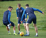 30.10.2018: Rangers training: Jordan Rossiter with Nikola Katic and Lee Wallace