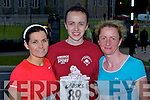 Caroline Reidy Scartaglen, Lily Lenihan Ballymac and Marie Lenihan Scartaglen who competed at the Feet first road race in Killarney on Friday night..