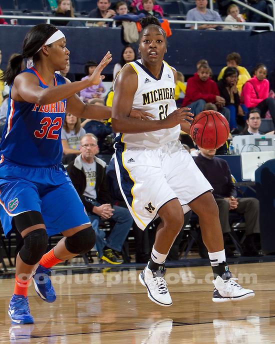 The University of Michigan women's basketball team beat Florida, 59-52, Crisler Center in Ann Arbor, Mich., on December 1, 2012.