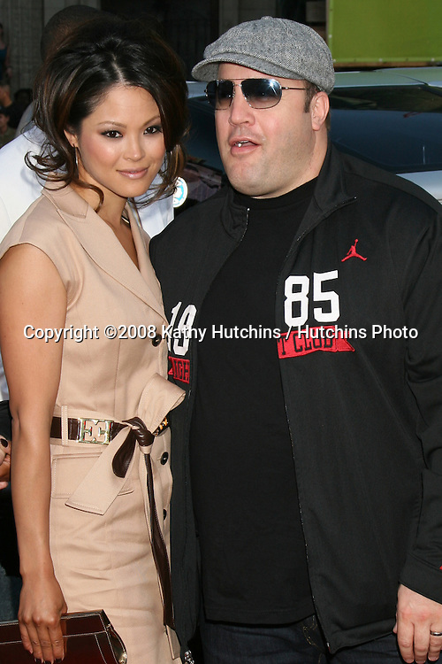 "Kevin James & Wife arriving at Grauman's Chinese Theater for  the premiere of ""Hancock"" in Los Angeles, CA on.June 30, 2008.©2008 Kathy Hutchins / Hutchins Photo ."