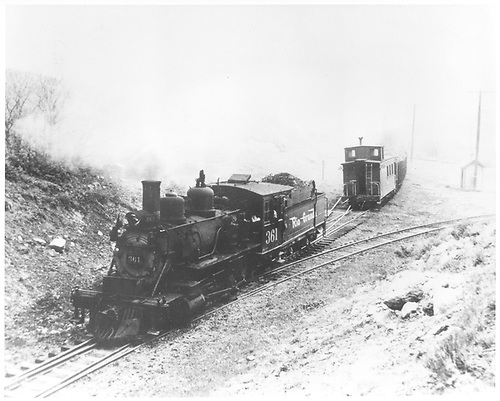 #361 switching at Cerro Summit.<br /> D&amp;RGW  Cerro Summit, CO  Taken by Maxwell, John W. - 5/27/1949