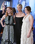 Jessica Chastain, Charlize Theron and Emily Blunt at The Universal Pictures' American Premiere of The Huntsman: Winter's War held at he Regency Village Theatre in Westwood, California on April 11,2016                                                                   Copyright 2016Hollywood Press Agency