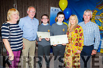 Patrick O'Sullivan and Donagh Murphy with their parents at the CBS awards evening in Rose Hotel on Thursday night. <br />  L to r: Bernadette O'Brien, John and Patrick O'Sullivan, Donagh Murphy, Margaret O'Sullivan and Michael Murphy.