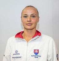 Bratislava, Slovenia, April 21, 2017,  FedCup: Slovakia-Netherlands, Draw ceremony, Rebecca Sramkova (SVK)<br /> Photo: Tennisimages/Henk Koster