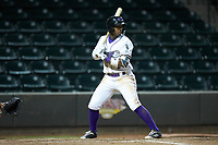 Yeyson Yrizarri (2) of the Winston-Salem Dash at bat against the Salem Red Sox at BB&T Ballpark on April 20, 2018 in Winston-Salem, North Carolina.  The Red Sox defeated the Dash 10-3.  (Brian Westerholt/Four Seam Images)
