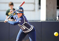 Florida International University catcher Alex Casals (13) plays against the University of Massachusetts which won the game 3-1 on February 11, 2012 at Miami, Florida. .