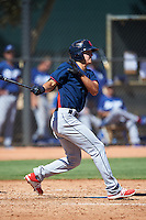 Cleveland Indians Luke Wakamatsu (12) during an Instructional League game against the Los Angeles Dodgers on October 10, 2016 at the Camelback Ranch Complex in Glendale, Arizona.  (Mike Janes/Four Seam Images)