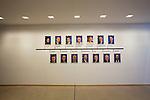Corredor con imágenes de todos los presidentes del Parlamento Europeo en Bruselas. Diciembre 4, 2017. PHOTO CREDIT © DELMI ALVAREZ