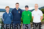 Eric Dunlea, Stephen O'Neill Killarney  with David Fitzgerald and Darren O'Sullivan Tralee who played in the Irish Senior cup in Killarney Golf Course on Sunday