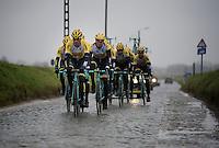 2015 Omloop Het Nieuwsblad recon by Team LottoNL-Jumbo in the Holleweg