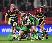 23rd March 2018, Ashton Gate, Bristol, England; RFU Rugby Championship, Bristol versus Yorkshire Carnegie; James Elliott of Yorkshire Carnegie gets the ball away from the ruck