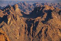 View from Mount Sinai at sunrise, Sinai mountains, Egypt, Africa