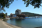 View of the Coeur d'Alene Resort and beach.