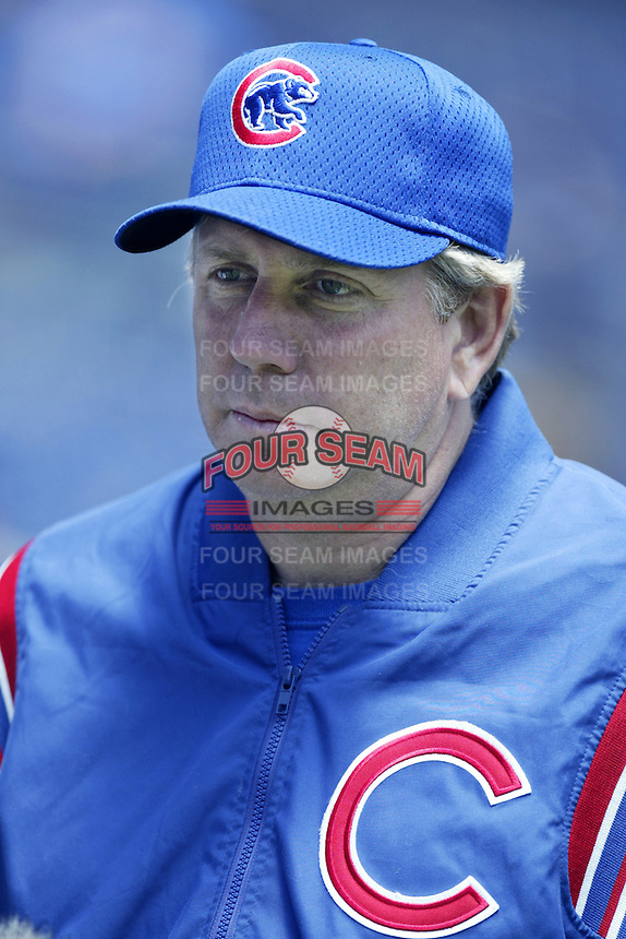 Chicago Cubs pitching coach Larry Rothschild before a 2002 MLB season game against the San Diego Padres at Qualcomm Stadium, in San Diego, California. (Larry Goren/Four Seam Images)