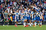 RCD Espanyol's players celebrate victory during La Liga match. May, 18th,2019. (ALTERPHOTOS/Alconada)