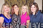 Enjoying a special celie weekend was Mag Hennessy(Ballymacelligott), Mag Carmody(Brosna), Doreen Horgan(Firies) and Eilis Murphy(Abbeyfeale) pictured here last Saturday night in The Devon Inn, Templeglantine.