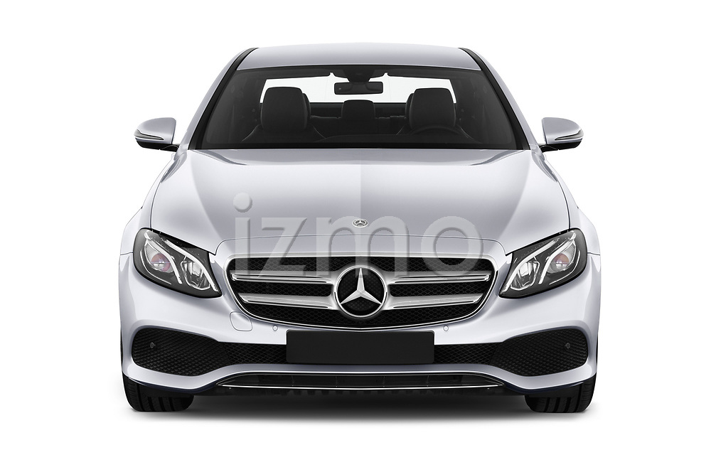 Car photography straight front view of a 2018 Mercedes Benz E Class Business Solution 4 Door Sedan