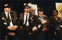 Blues Brothers6024.JPG<br /> <br /> 1997 <br /> John Goodman, James Belushi,<br /> Dan Aykroyd, James Brown 1997<br /> Photo to By John Barrett-PHOTOlink.net/MediaPunch