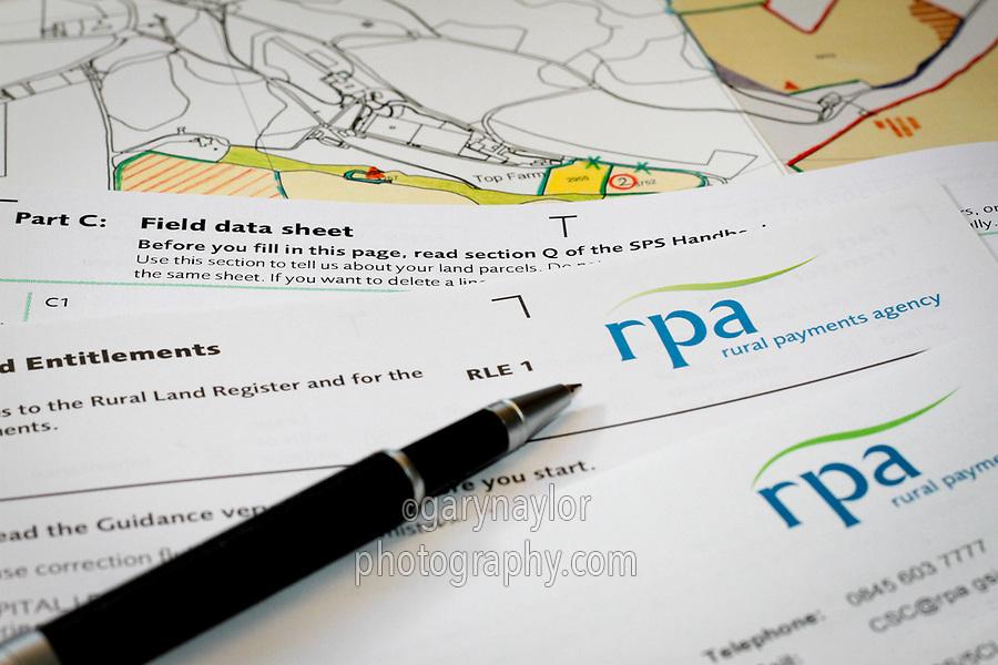 RPA RLE 1 form and RLR farm maps