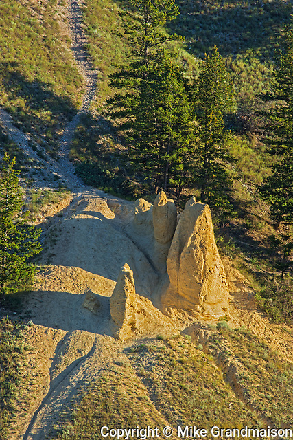 Hoodoos at western edge of Kootenay National Park, , British Columbia, Canada