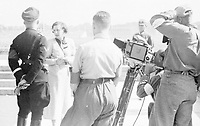 File photo circa 1936 - film maker Leni Riefenstahl meeet Heinrich Himmler
