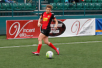 Rochester, NY - Saturday May 21, 2016: Western New York Flash midfielder Elizabeth Eddy (4). The Western New York Flash defeated Sky Blue FC 5-2 during a regular season National Women's Soccer League (NWSL) match at Sahlen's Stadium.