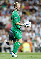 Manchester City's Joe Hart during Champions League match. September 18, 2012. (ALTERPHOTOS/Alvaro Hernandez). /NortePhoto.com<br />
