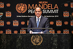 Opening Plenary Meeting of the Nelson Mandela Peace Summit<br /> <br /> Egypt