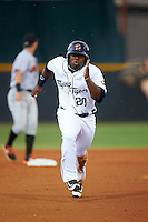Lakeland Flying Tigers left fielder Christin Stewart (20) running the bases during a game against the Jupiter Hammerheads on March 14, 2016 at Henley Field in Lakeland, Florida.  Lakeland defeated Jupiter 5-0.  (Mike Janes/Four Seam Images)