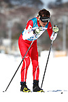 Kazuto Takamura (JPN), <br /> MARCH 17, 2018 - Cross-Country Skiing : <br /> Men's Classical 10km Visually Impaired Standing <br /> at Alpensia Biathlon Centre <br /> during the PyeongChang 2018 Paralympics Winter Games in Pyeongchang, South Korea. <br /> (Photo by Sho Tamura/AFLO SPORT)
