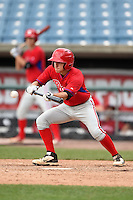 Dante Ricciardi (4) of Worcester Academy in West Boylston, Massachusetts playing for the Philadelphia Phillies scout team during the East Coast Pro Showcase on August 2, 2014 at NBT Bank Stadium in Syracuse, New York.  (Mike Janes/Four Seam Images)