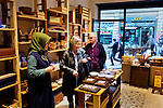 Istanbul - Turkey - 05 February 2015 -- Young entrepreneurs. -- Zeynep Toptas, 22, advices customers at the Reklam Hizmetleri ( a wood and ceramic store)  -- PHOTO: Agata SKOWRONEK / EUP-IMAGES