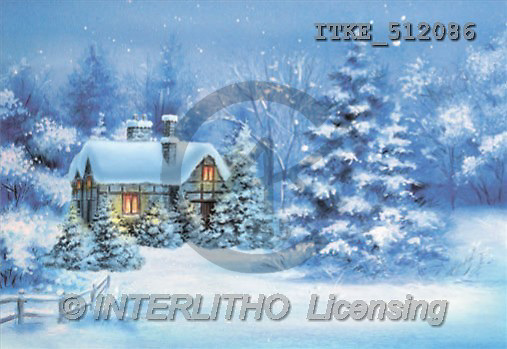 Isabella, CHRISTMAS LANDSCAPE, paintings(ITKE512086,#XL#) Landschaften, Weihnachten, paisajes, Navidad, illustrations, pinturas