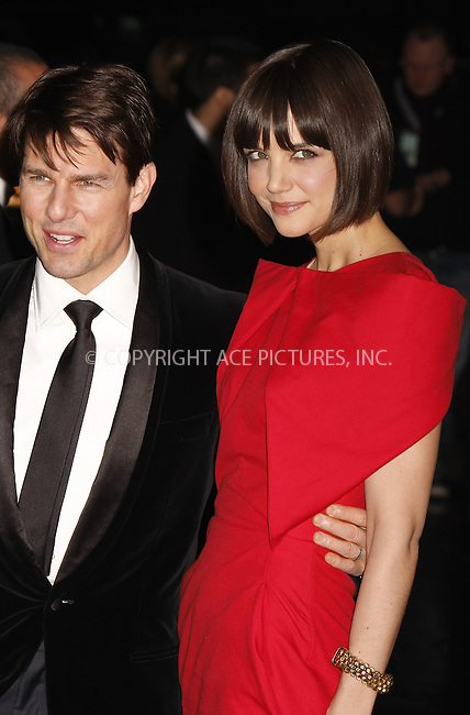 "WWW.ACEPIXS.COM . . . . .  ....February 6 2008, New York City....Tom Cruise and Katie Holmes arriving at ""A Night to Benefit Raising Malawi and UNICEF"" hosted by Madonna and Gucci at theUnited Nations in midtown Manhattan.....Please byline: AJ Sokalner - ACEPIXS.COM..... *** ***..Ace Pictures, Inc:  ..te: (646) 769 0430..e-mail: info@acepixs.com..web: http://www.acepixs.com"