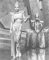 Flash Gordon (1980) <br /> Ornella Muti &amp; Deep Roy<br /> *Filmstill - Editorial Use Only*<br /> CAP/KFS<br /> Image supplied by Capital Pictures