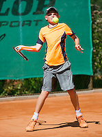 August 4, 2014, Netherlands, Dordrecht, TC Dash 35, Tennis, National Junior Championships, NJK,  Jesper de Jong (NED)<br /> Photo: Tennisimages/Henk Koster