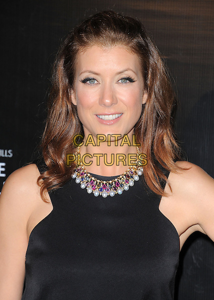 Kate Walsh.Rodeo Drive Walk of Style 2012 held on Rodeo Dr., Beverly Hills, California, USA..December 5th, 2012 .headshot portrait black sleeveless top necklace gold red pearls .CAP/DVS.©DVS/Capital Pictures.