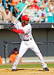 5 March 2006: Damian Jackson, infielder for the Washington Nationals, at bat during a Spring Training game against the Baltimore Orioles. The Nationals defeated the Orioles 10-6 at Space Coast Stadium, in Viera Florida...Mandatory Photo Credit: Ed Wolfstein..