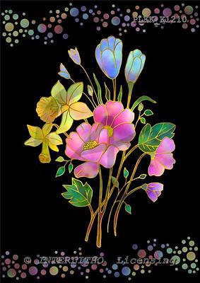 Kris, FLOWERS, paintings, PLKKK1210,#f# Blumen, flores, illustrations, pinturas ,everyday