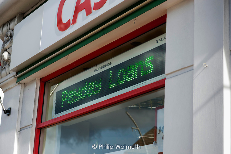 High street finance shop offering payday loans in Ilford.