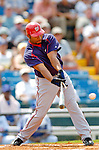6 March 2006: Marlon Anderson, infielder for the Washington Nationals, at bat during a Spring Training game against the Los Angeles Dodgers. The Nationals and Dodgers played to a scoreless tie at Holeman Stadium, in Vero Beach Florida...Mandatory Photo Credit: Ed Wolfstein..