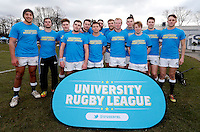 St Mary's team photo during the BUCS Premier South game between St Mary's and Oxford at St Mary's University, Twickenham on Wed Feb 4, 2015