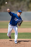 Kansas City Royals relief pitcher Bryan Brickhouse (37) during a Minor League Spring Training game against the Milwaukee Brewers at Maryvale Baseball Park on March 25, 2018 in Phoenix, Arizona. (Zachary Lucy/Four Seam Images)