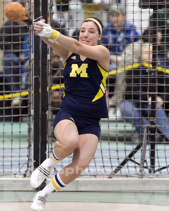 University of Michigan women's track and field competes in the Simmons-Harvey Invitational (non-scoring) at the Indoor Track and Field building in Ann Arbor, MI, on January 22, 2011.